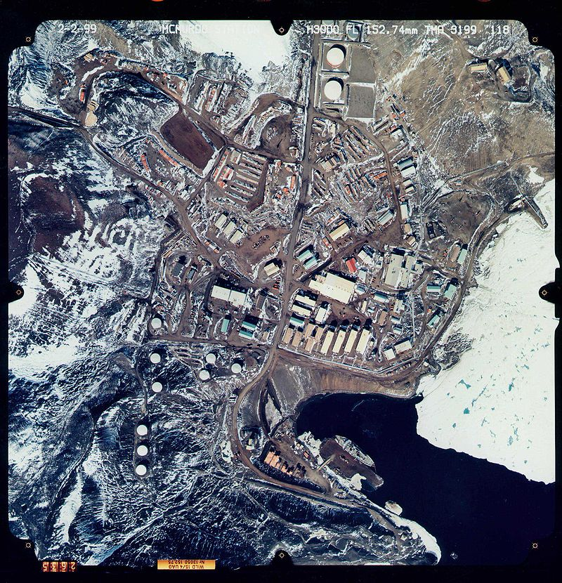 McMurdo Station from above