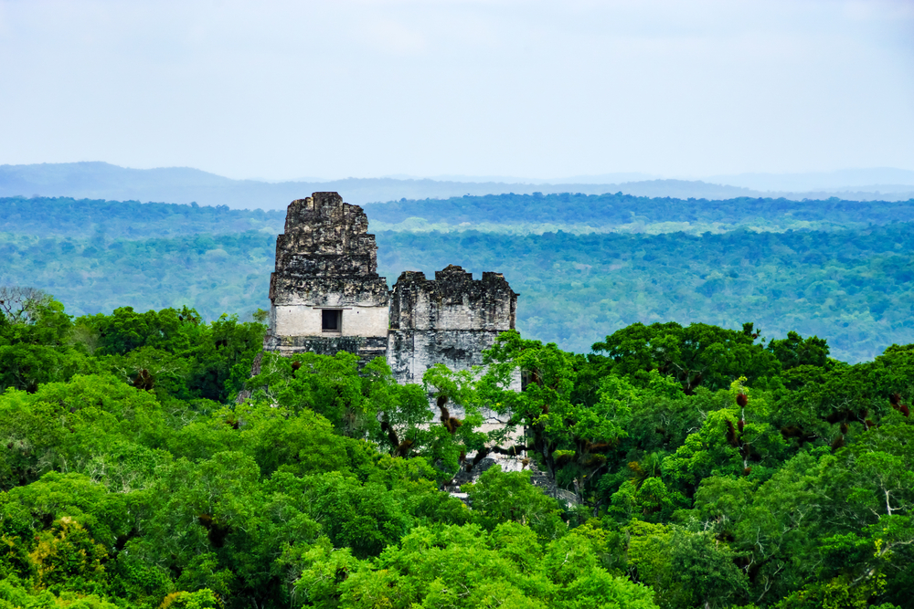 ancient mayan ruin Tikal guatemala
