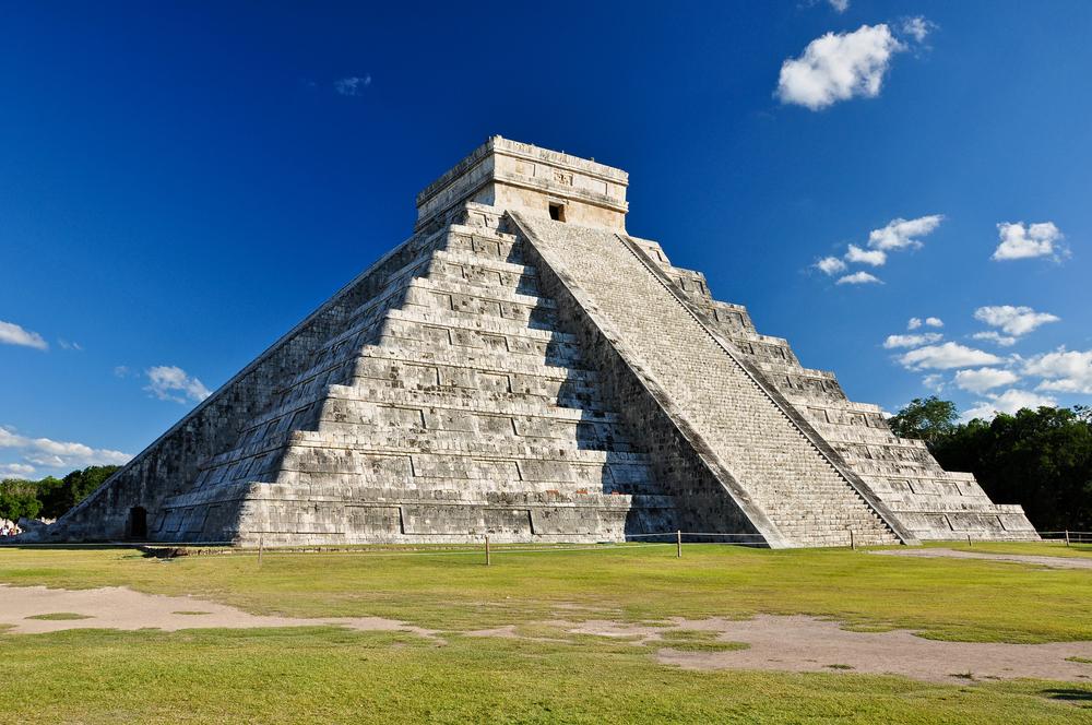Chichen Itza Mayan ruin in Mexico.