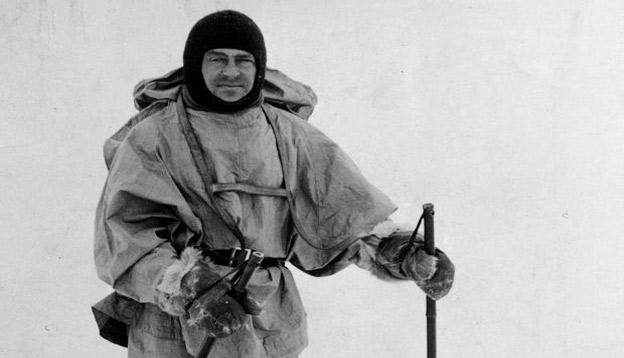 British explorer Robert Falcon Scott during his doomed expedition to the Antarctic, circa 1912. Photo Credit: Hulton Archive