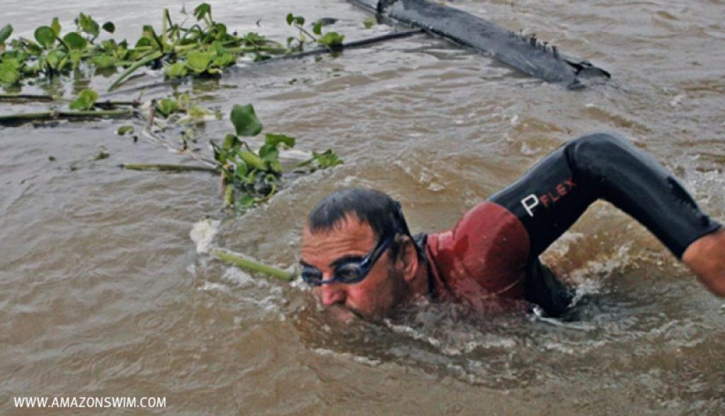 Martin Strel, Guinness World Record holder, photo credit; Amazon Swim