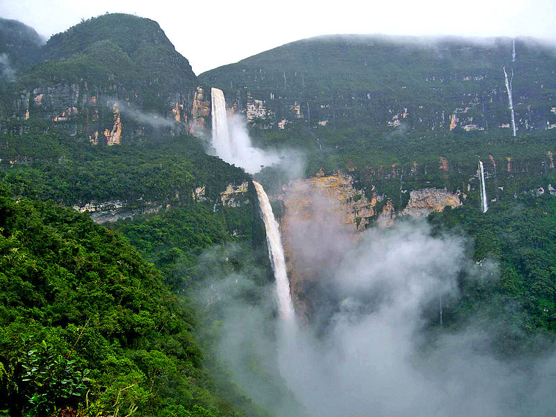 Gocta waterfalls in the rainforest in peru