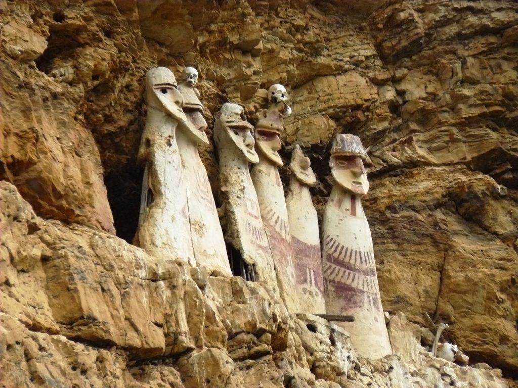 tombs of karanja in rocks in peru, Chachapoyas