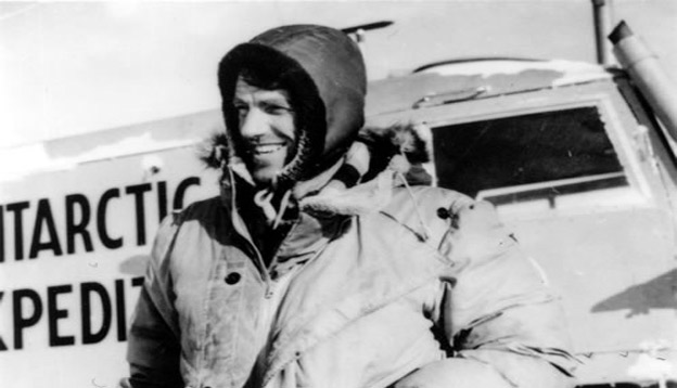Edmund Hillary in Antarctica 1958. Photo Credit: NZ History Archives