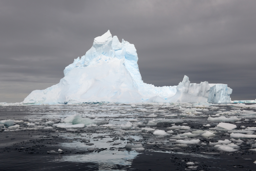 Iceberg floating in the Ross Sea