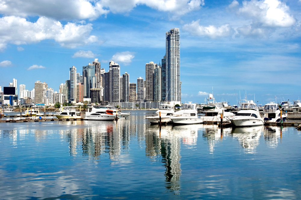 The modern skyline of Panama City