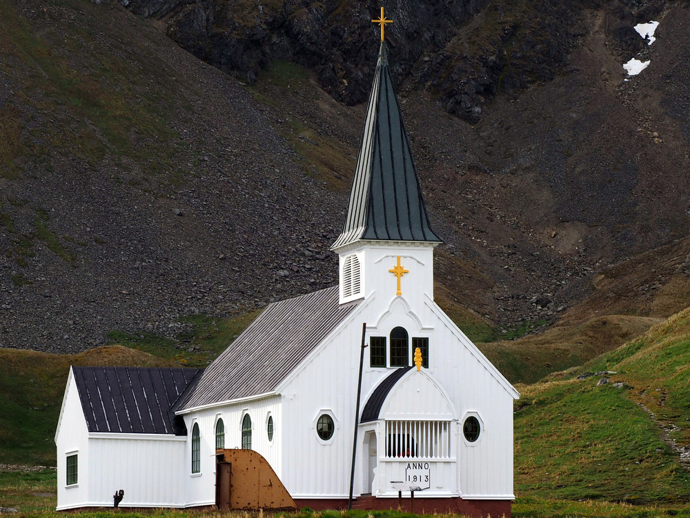 white church in the mountains in south georgia