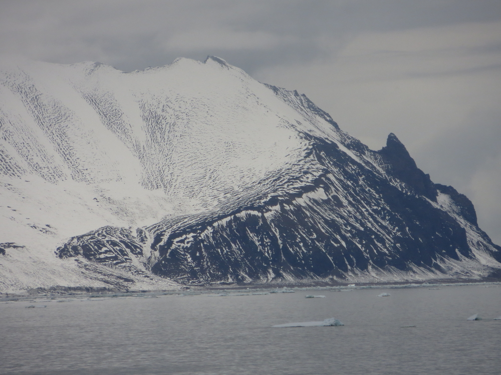 island with snow and ice in the sea