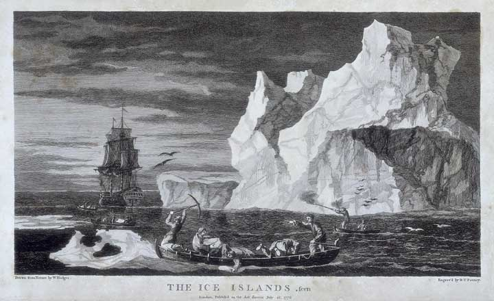 black and white picture of sailing ship to Antarctica