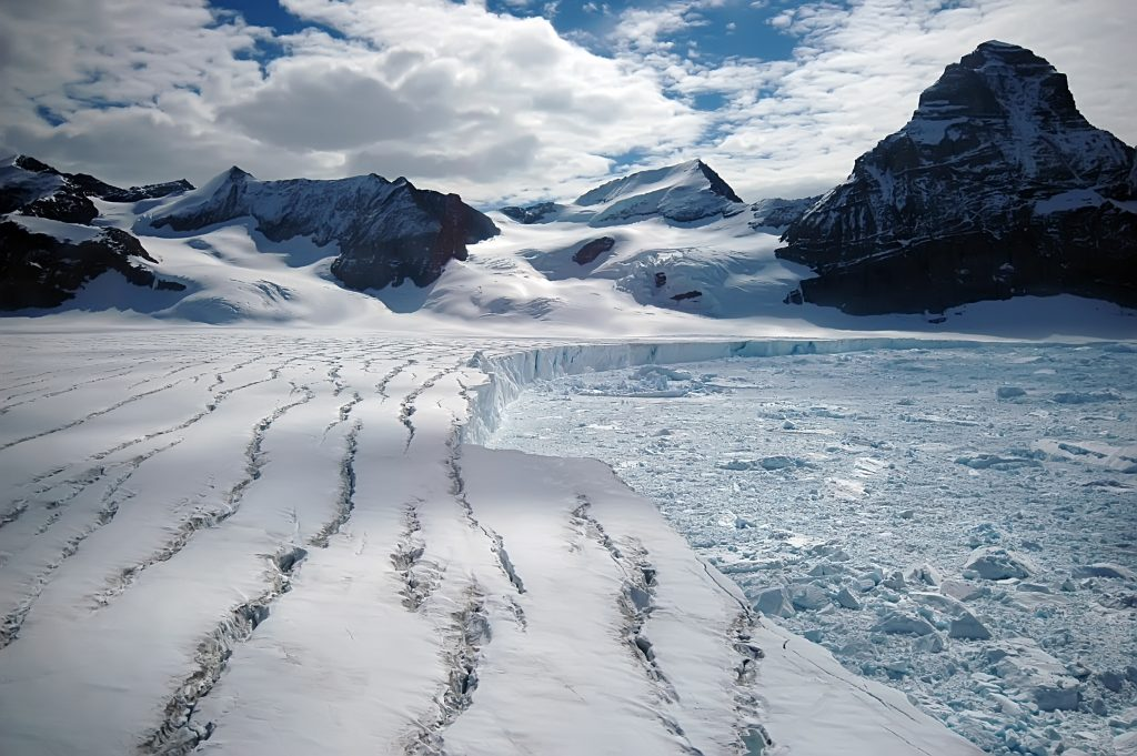 snow and ice in antarctica