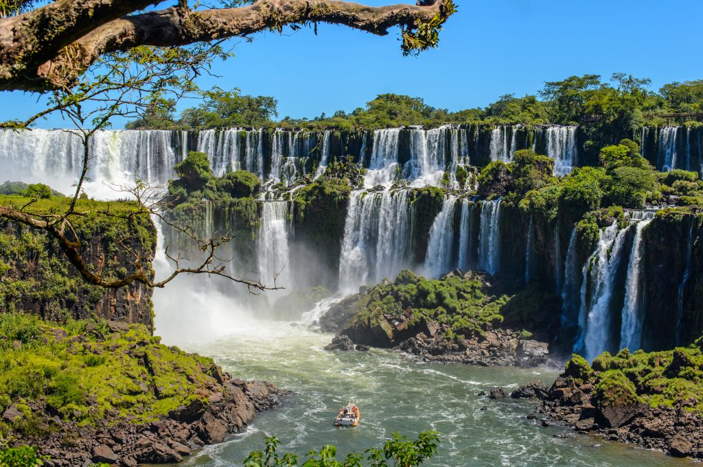 big waterfalls iguazu in brazil