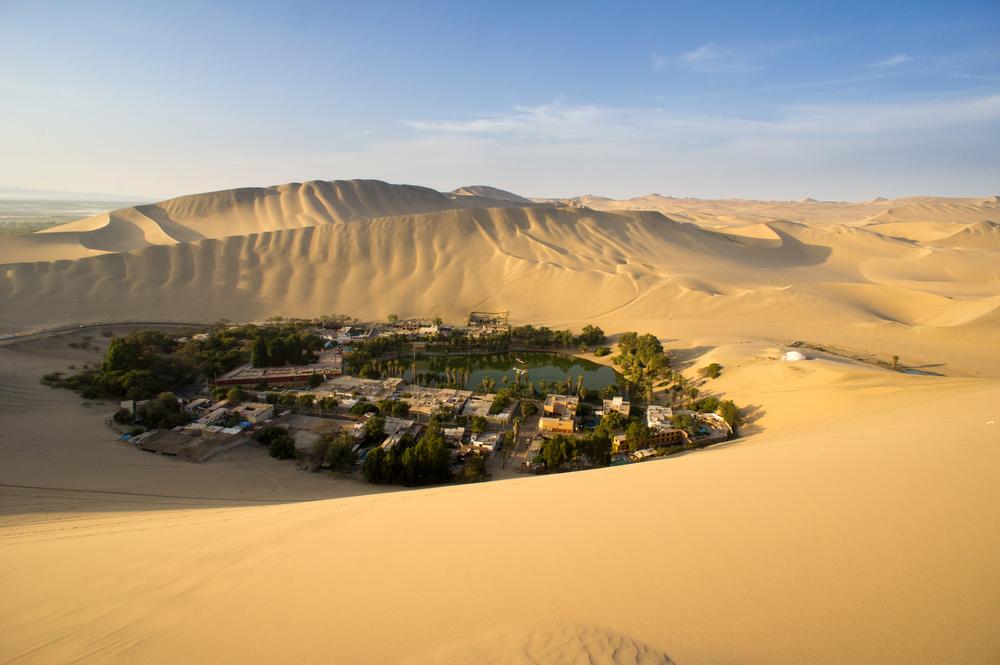 oasis in the desert in Peru