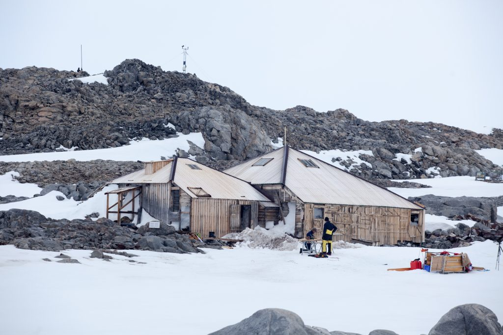 Mawson's Hut from the north-west on December 20, 2015.