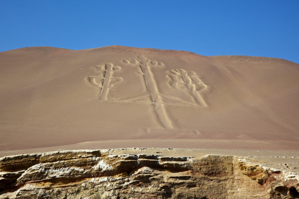Nazca Lines in peru, lines in the desert sand