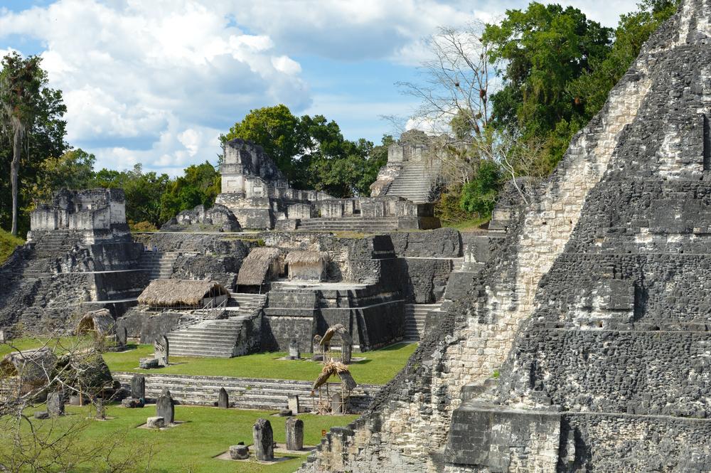 ancient mayan ruin in guatemala