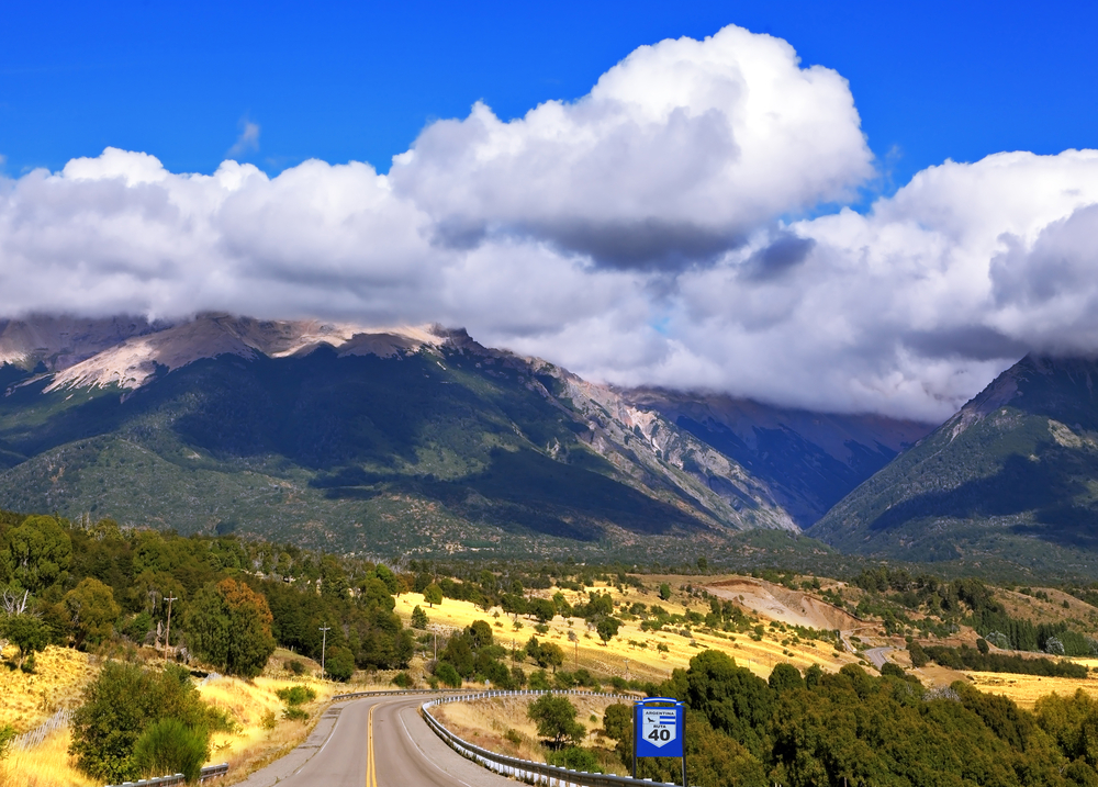 Ruta 40 in Argentina, South America, road going through the mountains