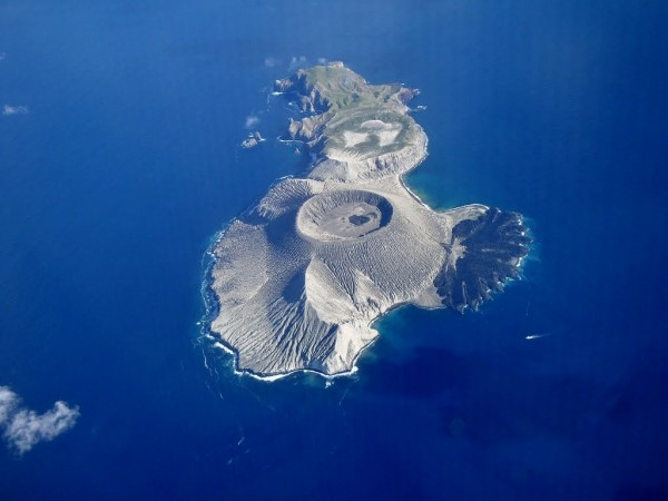 aerial view over the Revillagigedo Islands
