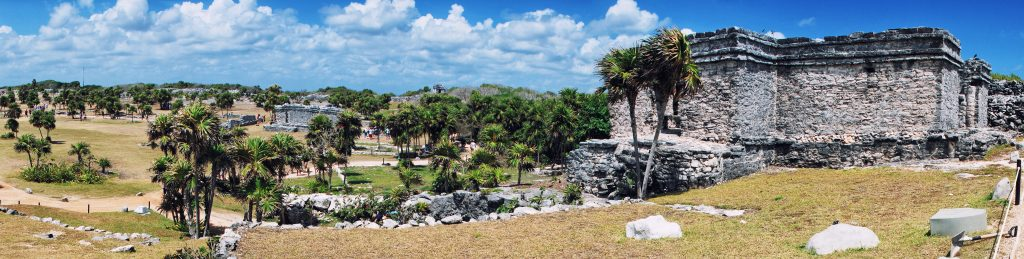 ancient mayan ruins in the forest mexico