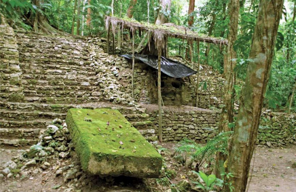 ancient ruin in forest Guatemala