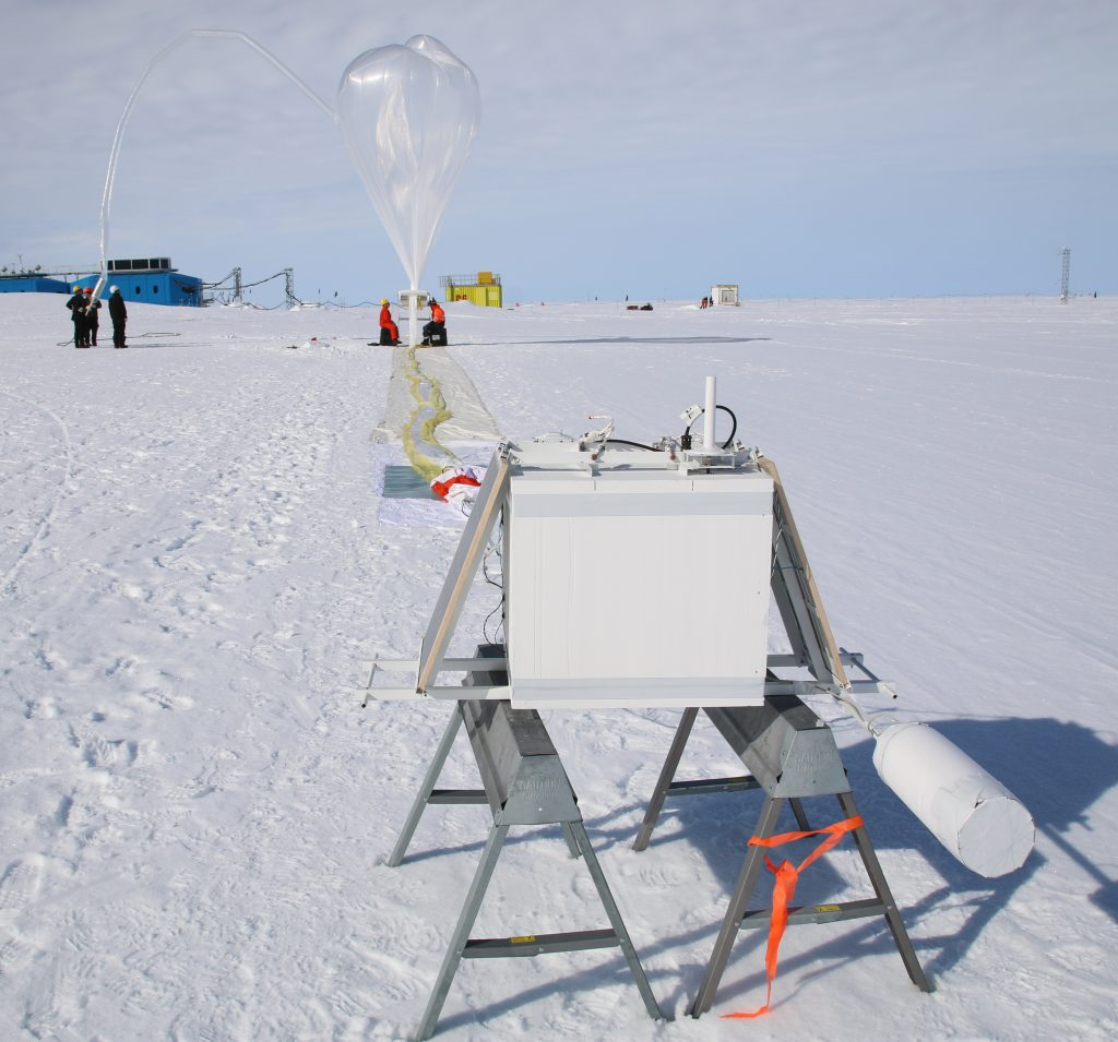 Balloons launched by NASA in Antarctica.