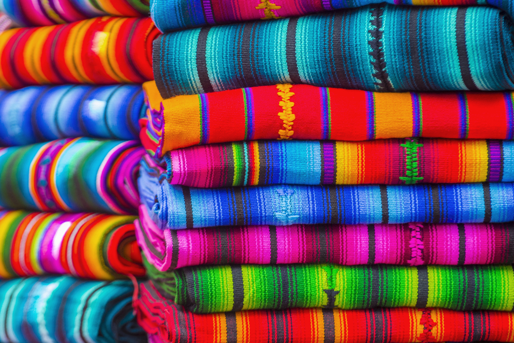 colourful blankets south american culture