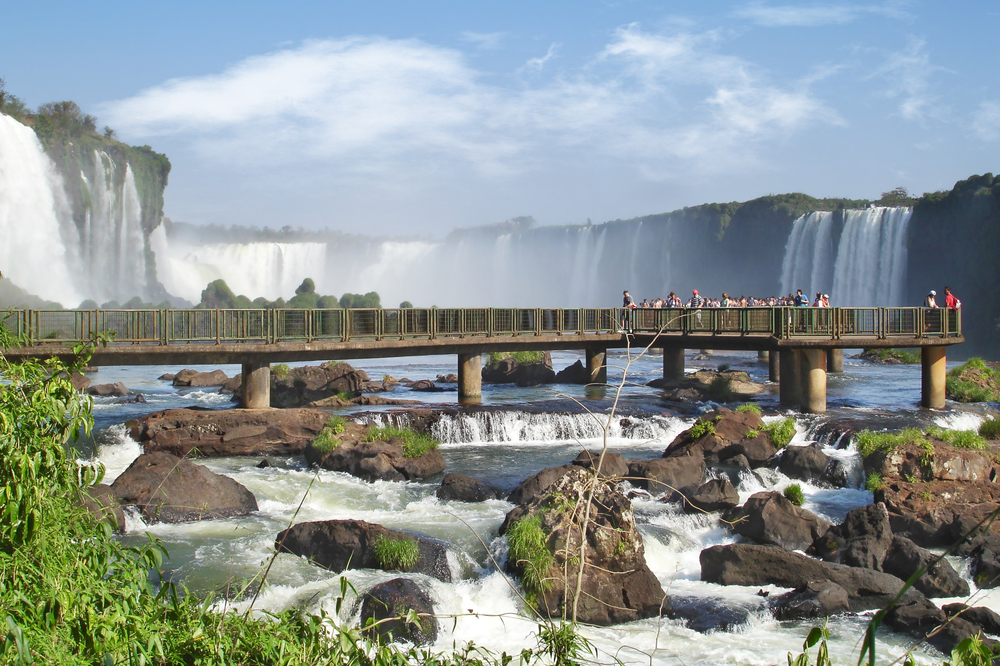 The Iguazu falls in Argentina. Photo credit: Shutterstock.