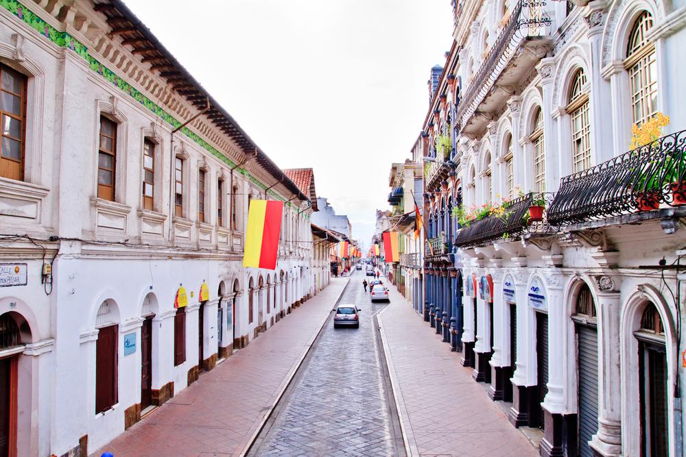 The city of Cuenca in Ecuador