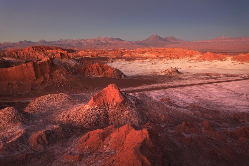 The sunset in San Pedro de Atacama