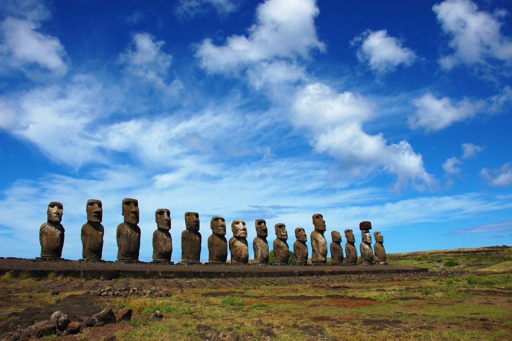 Statues at Easter Island, Chile