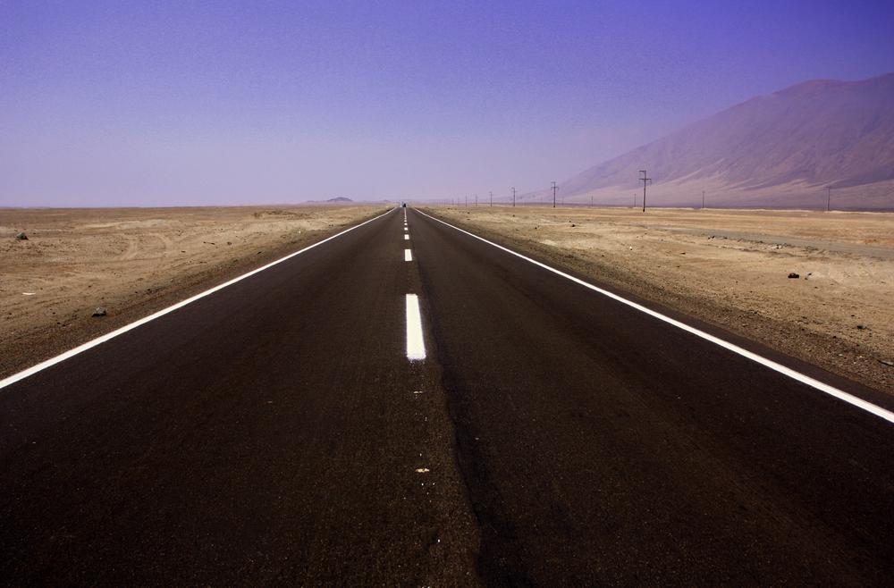 Pan Americana Highway between Peru and Panama