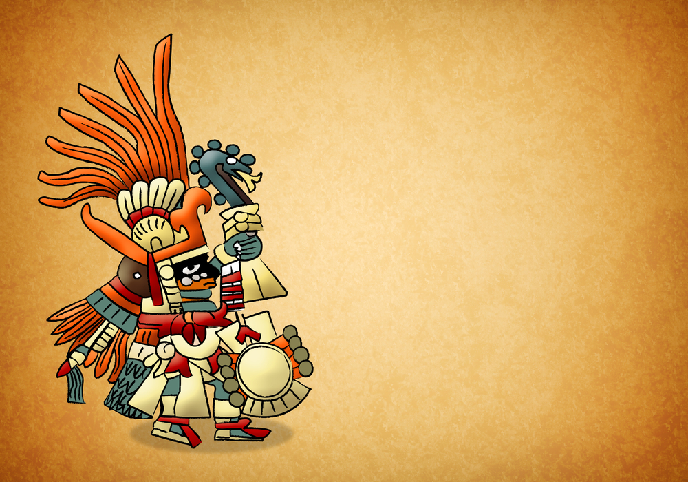 The Huitzilopochtli - god of sun - aztec