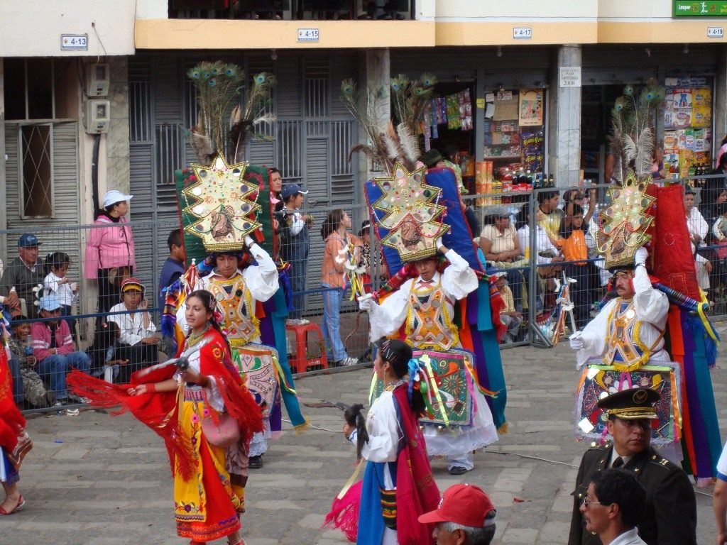 Ecuadorian people dancing