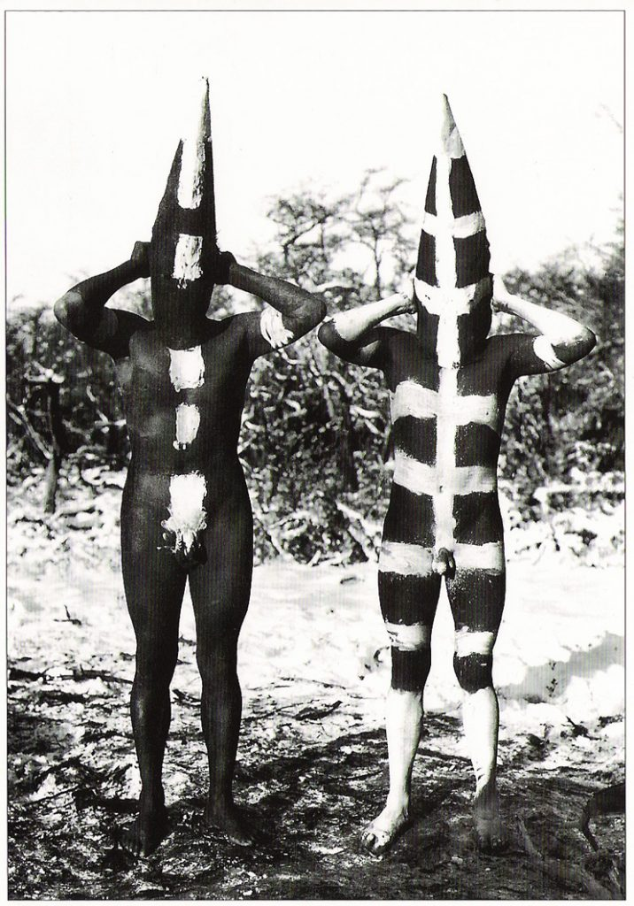 Painted bodies of the Selk'nam people