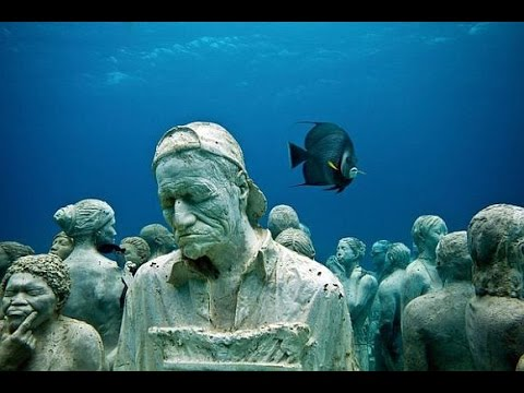 The MUSA underwater museum in Cancun, Mexico