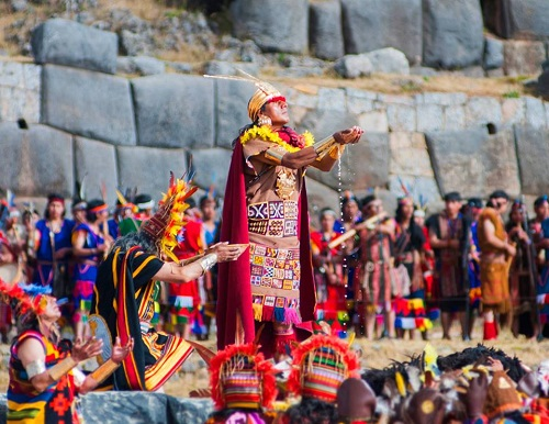 Inti Raymi Festival celebrated in Ecuador and Peru.