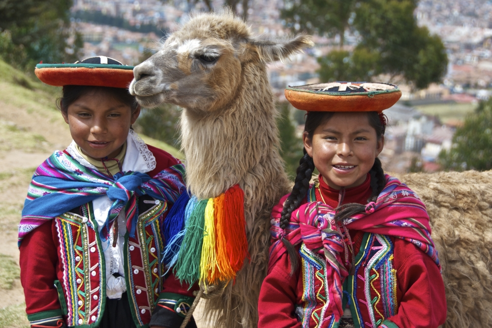 Quechua children, one of the indigenous cultures.