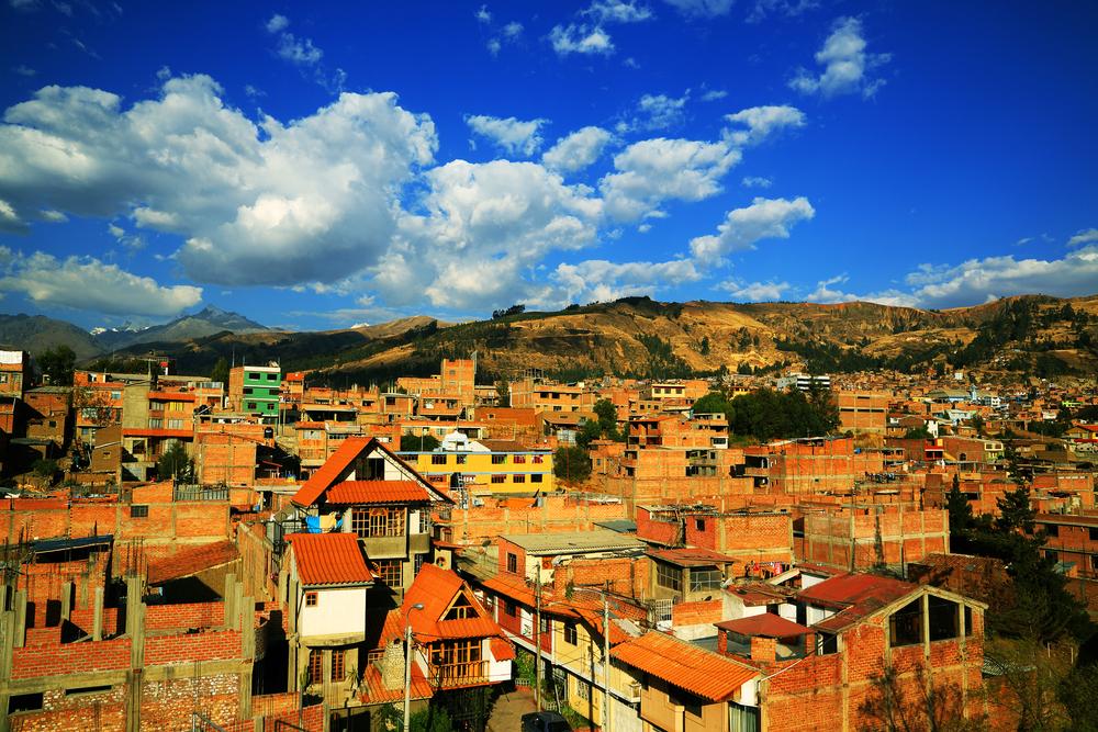 Huaraz City in Cordiliera Blanca, Peru