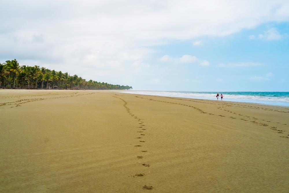 Beach of Portete near Mompiche