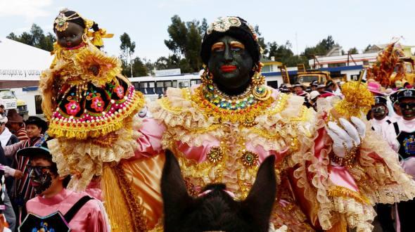 Mama Negra Fesitval in Ecuado