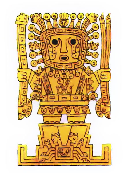 The Inca god Viracocha, known as the 'Great Creator'