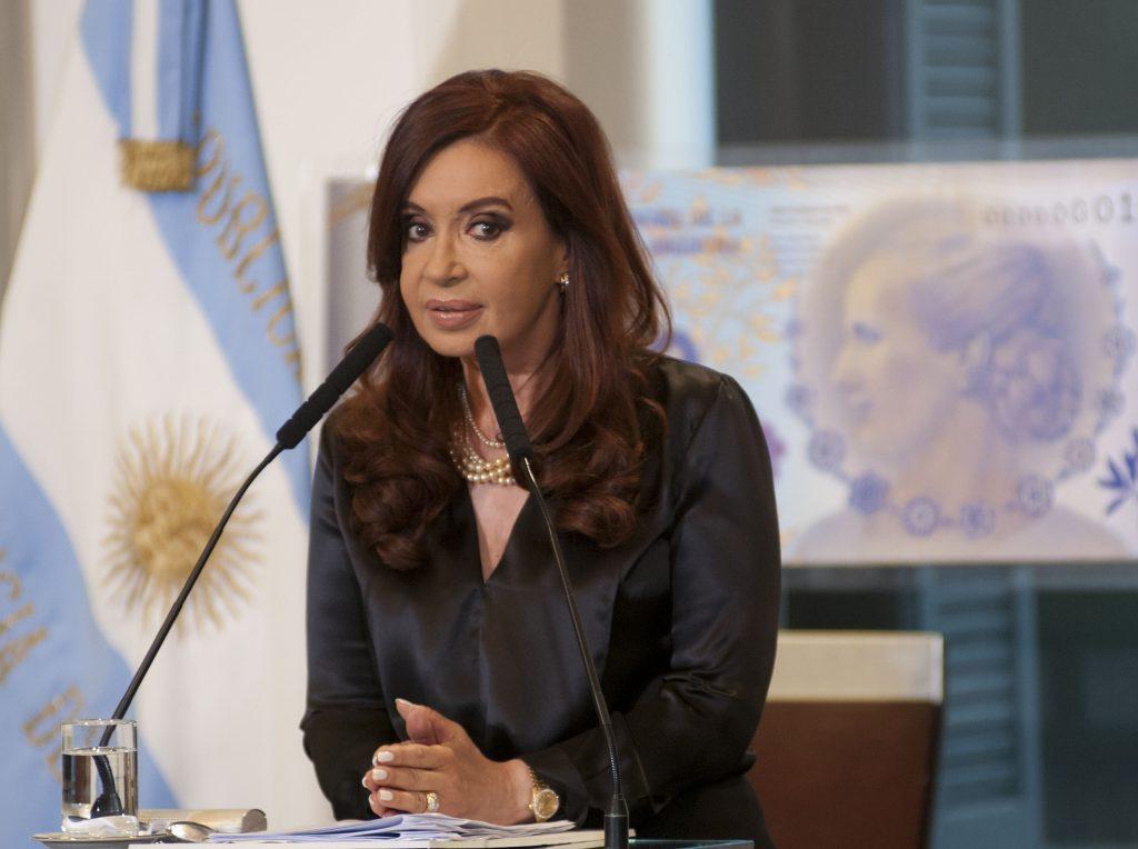 Argentina's first female President Cristina Fernandez de Kirchner.