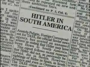 News paper article Nazi in South America