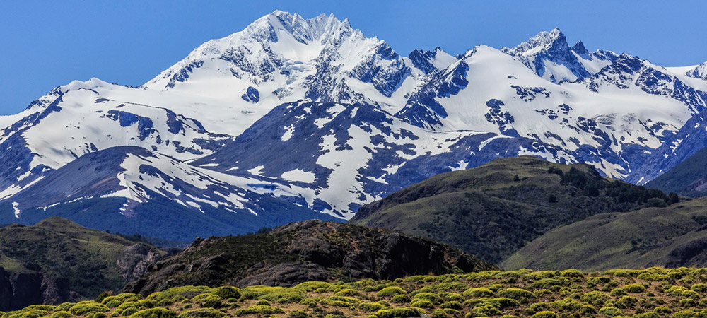Beautiful snow-capped mountains in Patagonia.
