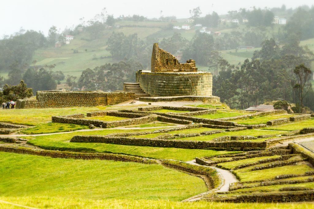 Ancient Inca Ruins in Ecuador.