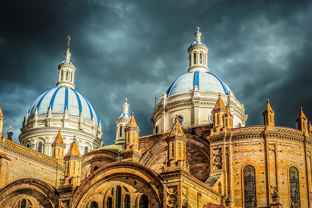 Beautiful church in Cuenca, Ecuador.