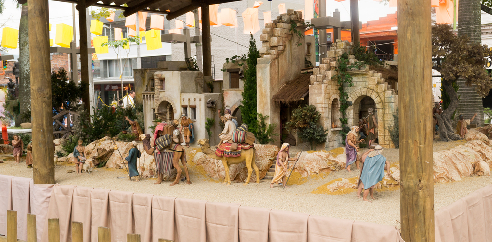 Typical nativity set in South America