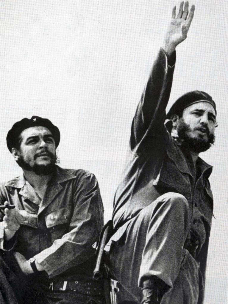 Fidel Castro and Che Guevara, in one of the most iconic photos of the 20th century.
