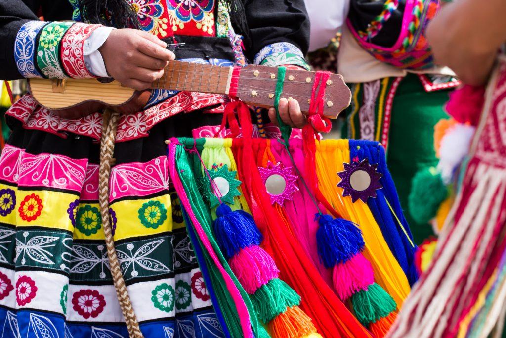 The impressive colourful culture of Peru.