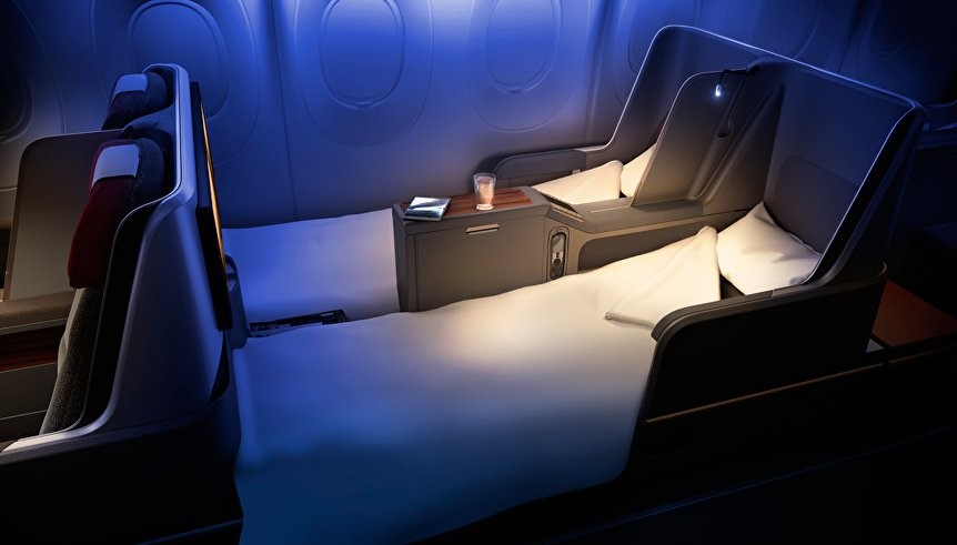 Luxury on board facilities for Business class travellers
