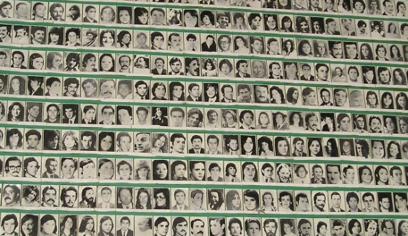 "Faces of the ""disappeared"" during the Dirty War."